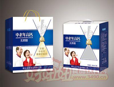烟台江中中老年高钙无蔗糖饮品250mlx12盒装
