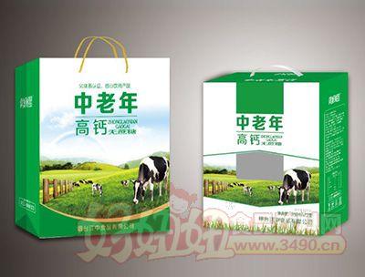 烟台江中中老年高钙无蔗糖饮品250mlx12盒