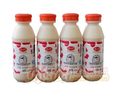 爱心牛浓纯风味甜牛奶250ml草莓味