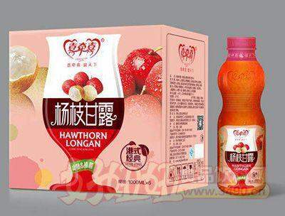 喜牵喜水果捞山楂桂圆饮品1000mlx6瓶