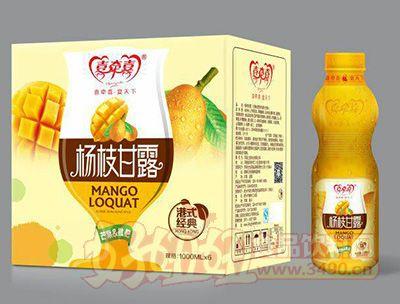 喜牵喜水果捞芒果枇杷饮品1000mlx6瓶