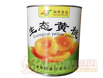 润野生态黄桃罐装