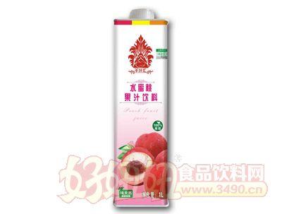 千汁汇水蜜桃汁1L盒装