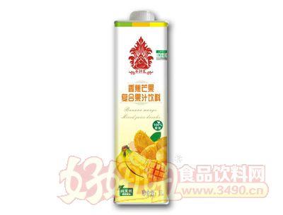 千汁汇香蕉芒果汁1L盒装