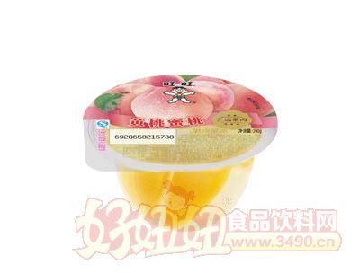 旺旺果肉果��200g(�S桃蜜桃果肉)
