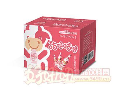 养乐舒儿童乳酸菌饮品200ml*24瓶(草莓味)