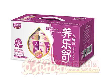 养乐舒鲜果C菌乳酸菌340ml*10瓶(水蜜桃味)