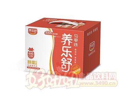 养乐舒鲜果C菌乳酸菌340ml*12瓶(草莓味)