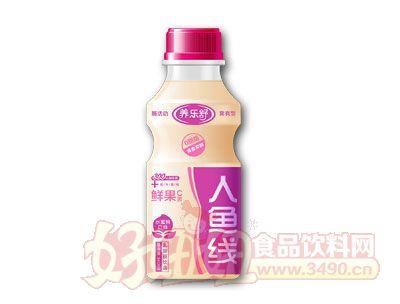 养乐舒人鱼线乳酸菌饮品340ml水蜜桃味