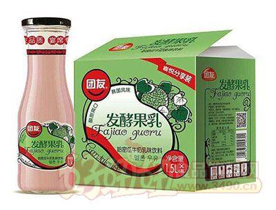 团友哈密瓜牛奶乳味饮料1.5L×6瓶
