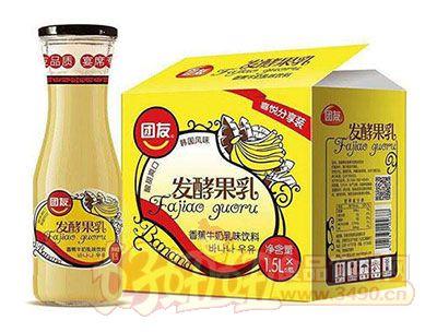 团友香蕉牛奶乳味饮料1.5L×6瓶