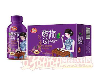 团友酸梅汤果汁饮料350mlx15瓶