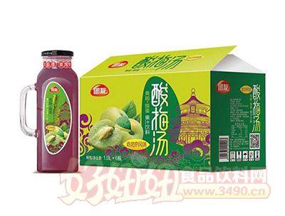 团友酸梅汤果汁饮料1.0Lx6瓶