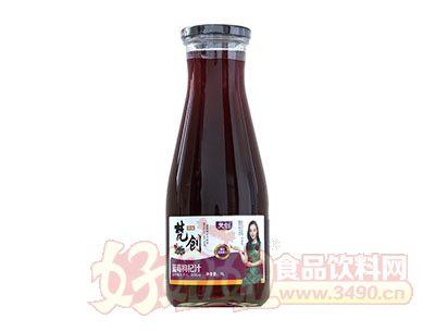 梵创蓝莓枸杞汁饮料1L