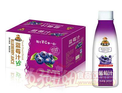 华宝金果郎蓝莓汁400mlx15瓶