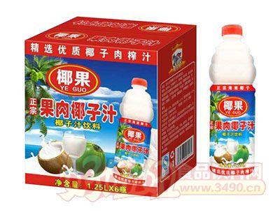 椰果果肉椰子汁饮料1.25L×6瓶