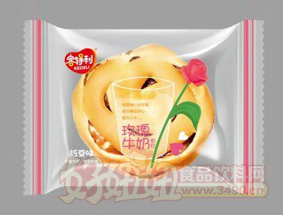 福建龙海客得利红豆味玫瑰牛奶面包