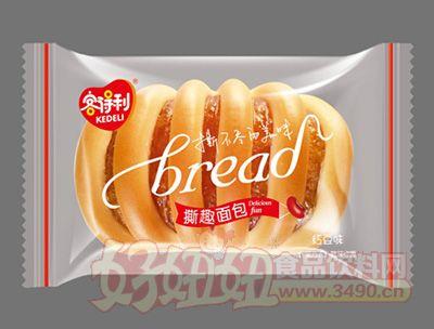 福建龙海客得利红豆味撕趣面包