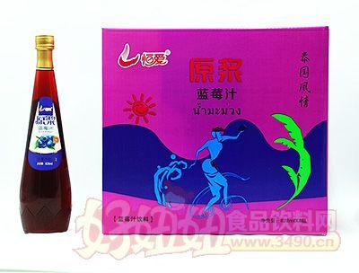 恒爱原浆蓝莓汁828mlx8瓶