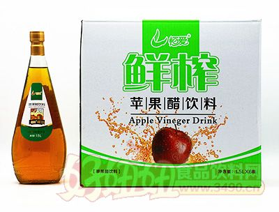 恒爱鲜榨苹果醋饮料1.5lx6瓶