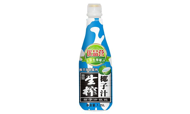 优品营果肉型生榨椰子汁1.25L