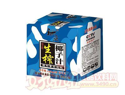 珊亚果肉型生榨椰子汁植物蛋白饮料1.25kgx6瓶