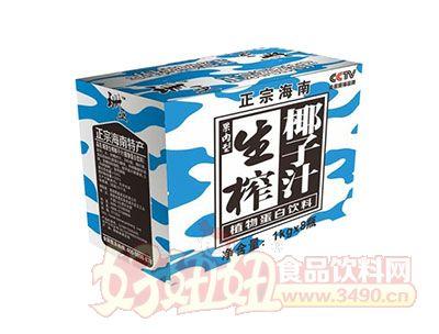 珊亚果肉型生榨椰子汁植物蛋白饮料1kgx8瓶