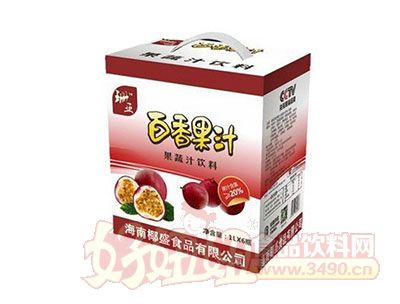 珊亚百香果汁1Lx6瓶