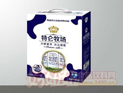 青岛养元牧业特伦牧场风味饮品250mlx12盒