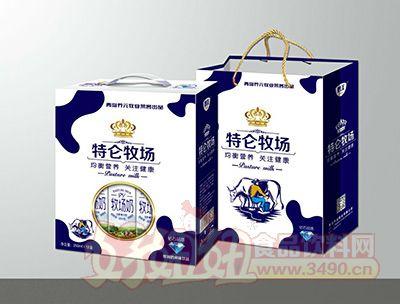 青岛养元牧业特伦牧场风味饮品250mlx12盒礼盒