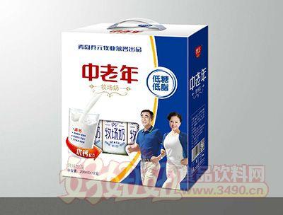 青岛养元牧业中老年高钙风味饮品250mlx12盒