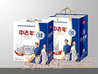 青岛养元牧业中老年牧场奶风味饮品250mlx12盒礼箱装