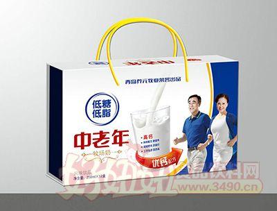 青岛养元牧业中老年低糖低脂风味饮品250mlx12盒礼箱装