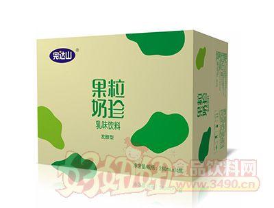 完达山果粒奶珍发酵型乳味饮料280mlx16瓶绿