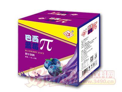 森宇巴西蓝莓π果汁饮料1.5L*6瓶