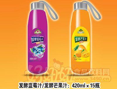 森宇�l酵�{莓汁/芒果汁420ml