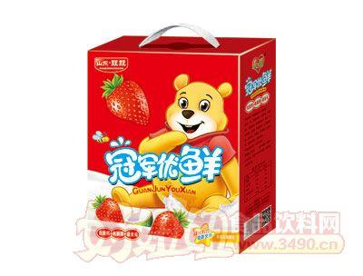 冠军优鲜乳酸菌草莓味手提礼盒