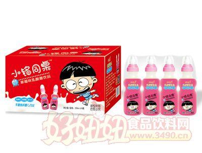 小铭同桌奶嘴瓶草莓味乳酸菌200mlx24瓶