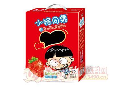 小铭同桌奶嘴瓶开窗草莓味乳酸菌200mlx16瓶