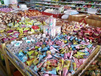 百家赞缤淇淋布丁堆放
