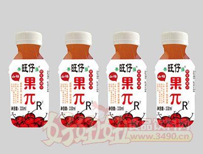 旺仔果π野生山楂汁330ml瓶装