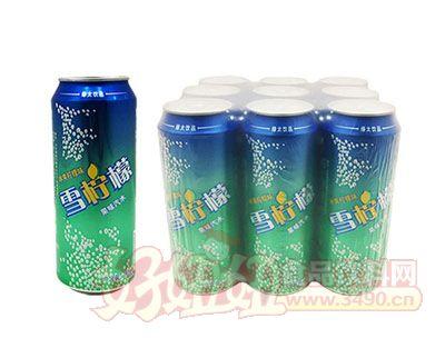 雪柠檬果味碳酸饮料490ml