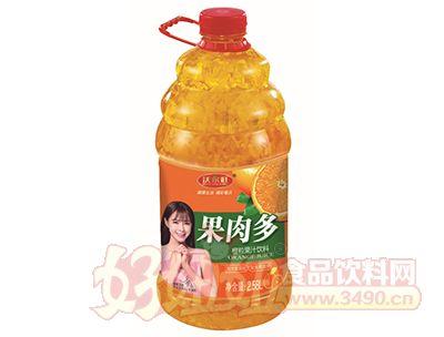 沃尔旺果肉多橙粒果汁2.58L