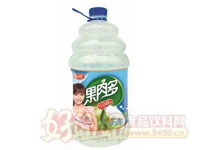 沃尔旺果肉多菠萝粒果汁2.58L