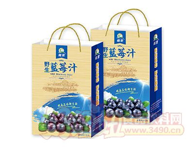 椰栗野生蓝莓汁手提袋