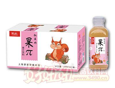 佰润500ml果π桃果肉果汁饮料