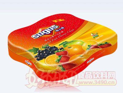 混合水果口味瑞士糖盒�b