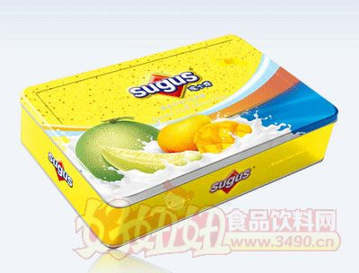 水果牛奶味瑞士糖盒�b