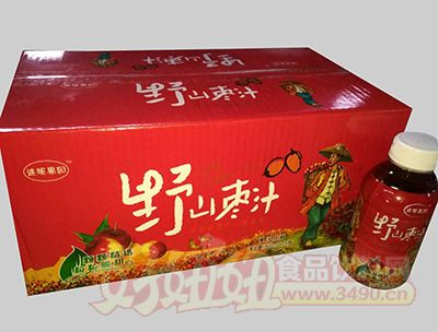 迷昵果园野山楂汁果味饮料368mlx15瓶