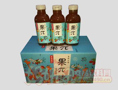 迷昵果园果π生榨山楂果味饮料500mlx15瓶